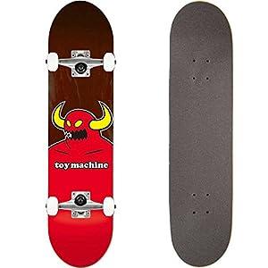 TOY MACHINE(トイマシーン) スケートボード コンプリート (完成品) MONSTER #03 BROWN 【高品質パーツ使用 ブランド純正品】 スケボー C15131bl (8 x 31.625)