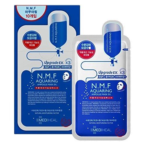 Mediheal メディヒール N.M.F アクアリング アンプル・マスクパック 10枚入り (Aquaring Ampoule Essential Mask Pack 1box 10sheet)