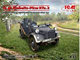 ICM 1/35 ドイツ陸軍 le.gl.Einheitz-Pkw Kfz.2 軽四輪駆動無線搭載車 プラモデル 35583
