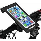 ROCKBROS(ロックブロス)自転車スマフォホルダー 防水ケース 360度回転 スマホバッグ 0.3mmTPU iphone 6plus/6s/5s/Galaxy S対応