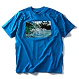 LOCAL MOTION(ローカルモーション)プリント半袖Tシャツ(HAWAII ALOHA) smt4219 [並行輸入品]【100.ブルー系-3XL】