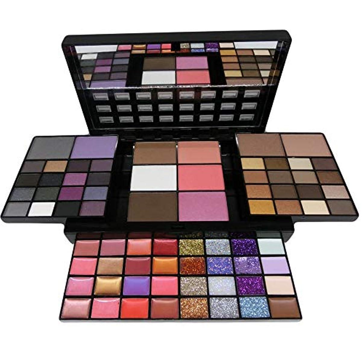 乳剤乙女拳Makeup Set Box 74 Color Makeup Kits For Women Combination Kit Eyeshadow Lipstick Glitter Cheek Blush Concealer Bronzer Highlighter Contour Cosmetic set メイクアップセットボックス74カラーメイクアップキット女性用コンビネーションキットアイシャドウリップスティックキラキラチークブラッシュコンシーラーブロンザーハイライターコンターメイクブラシ