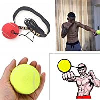 RAIFU ヘッドバンドと弾性ボール 反応速度 トレーニングツール ボクシング、戦闘、混合武道、キックボクシング、ムエタイに適用