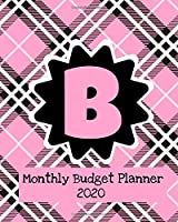 Monthly Budget Planner 2020: Income & Expenses Tracker