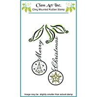 Class Act Cling Mounted Rubber Stamp 3.25 by 5.5-Inch Christmas Bulbs【クリスマス】【オーナメント】 [並行輸入品]