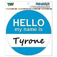 ティローンこんにちは、私の名前は - サークル MAG-格好いい'S(TM)カー/冷蔵庫マグネット