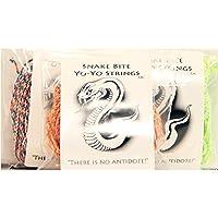Snake Bite Yo-Yo Strings - 100% Polyester Multicolor - 30 String Sample [並行輸入品]
