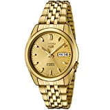 [セイコー] SEIKO 腕時計 Seiko Men's Seiko 5 Automatic Gold Dial Gold-Tone Stainless Steel Watch 日本製自動巻 SNK366K メンズ 【並行輸入品】