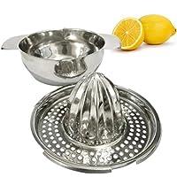 フルーツレモン絞り器、sacowオレンジ手手動Citrus Pressレモンジューサージュースステンレススチールレモン絞り器