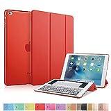 MS factory iPad mini4 スマート カバー バック ケース 一体型 オートスリープ mini 4 スタンド ケースカバー 全11色 レッド 赤 IPDM4-SMART-RD