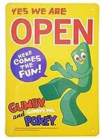 看板 店舗用 アメリカン サインボード GUMBY ( OPEN ) オープン ガンビー 注意 案内 営業中 メッセージ看板 キャラクター プラスチック看板 西海岸風 インテリア アメリカン雑貨