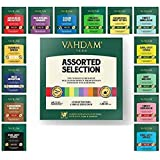 VAHDAM, Tea Variety Pack | 15 Flavours | Award Winning Tea Sampler | Black Tea, Green Tea, Oolong Tea, Chai Tea, Herbal Tea |