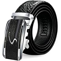 Aooaz Punk Belt Women's Pu Leather Dress Belt With Automatic Buckle Nickel Free; Daily Use
