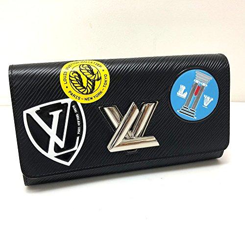 (ルイ・ヴィトン) LOUIS VUITTON M62008 ポルトフォイユ・ツイスト エピ ステッカー 二つ折り長財布 長財布(小銭入れあり) エピレザー レディース 中古