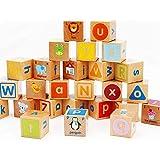 アルファベット積み木セット キューブつみき 木製つみ木 ブロック 子供おもちゃ