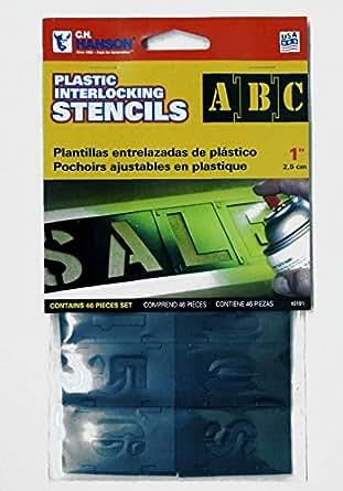 プラスチック製 ステンシル1インチ 1inch