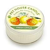 Pet House ペットハウス キャンドル 100%天然ソイワックス ペットの臭いを除去するキャンドル (フレッシュシトラス)