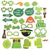 BESTOYARD 聖パトリックの写真ブースの小道具アイルランドの日の写真の付属品聖パトリックの日のアイルランドの祭の小道具春のテーマパーティー28PCS