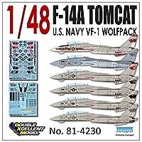 DXMデカール DXM-81-4230 1/48 アメリカ海軍 F-14A トムキャット VF-1 ウルフパック