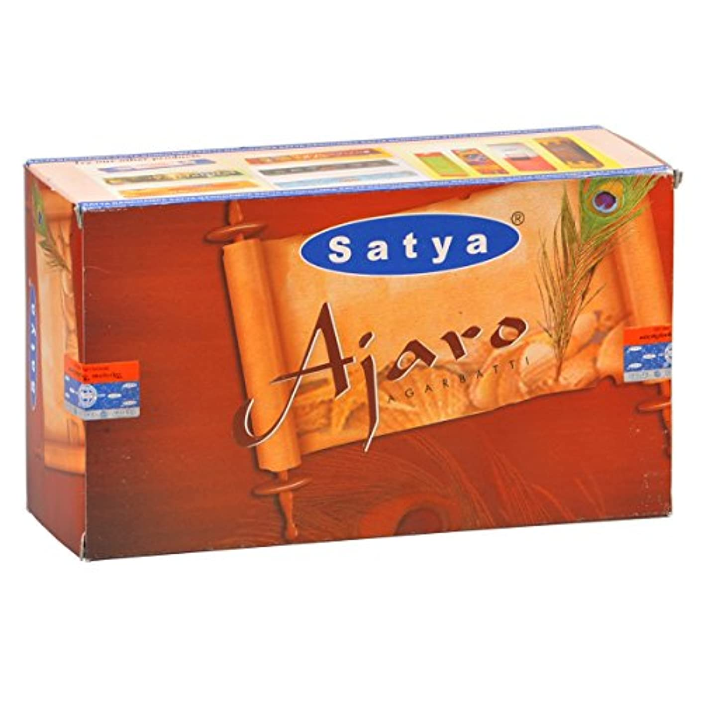 不名誉フラップ国民投票SATYA(サティヤ) アジャロ Ajaro スティックタイプ お香 12箱 セット [並行輸入品]