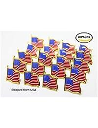 20アメリカ国旗の星とストライプラペルピン米国USAタイタックラペルピンバッジピン米国から出荷