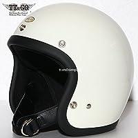TT&CO. スーパーマグナム スモールジェットヘルメット アイボリー 乗車用 SG/PSC/DOT規格品 ジェットヘルメット
