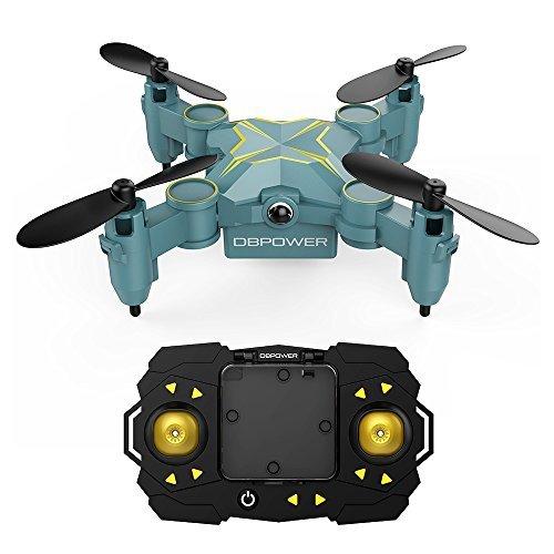 DBPOWER ドローン ミニドローン ラジコン ヘリコプター 高度維持 ワンキー離陸 初心者向き 折り畳式 小型ドローン