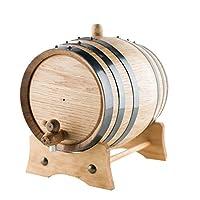 3リットルAmericanオークAgingバレル|手作りを使用してアメリカホワイトオーク| Age Your Own Whiskey、ビール、ワイン、Bourbon、・ラム、テキーラ& More。。。