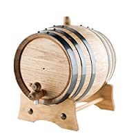 American Oak Barrel |手作りを使用してアメリカホワイトオーク| Age Your Own Whiskey、ビール、ワイン、Bourbon、テキーラ、ホットSauce & More 3 Liter or .8 Gallon