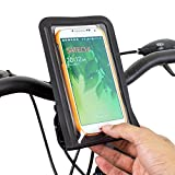 Satechi サテチ RideMate 自転車用スマートフォンホルダー (iPhone 6, 5S, 5C, 5, 4S, 4, BlackBerry Torch, HTC One, HTC EVO, HTC Inspire 4G, HTC Sensation, Droid X, Droid Incredible, Droid 2, Droid 3, Samsung EPIC, Galaxy S4, S5, Note 3用) (防水ブラック)