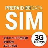 格安SIMじゃないから速度◎日本国内用プリペイドSIMカード(3GB/10日間) データ専用/大手キャリア主回線 テザリング対応 マルチサイズSIM(標準SIM/microSIM/nanoSIM全対応) 通常配送無料 日本製 SIMフリー