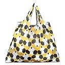 折りたたみ買い物袋 防水素材 (犬 黄色)
