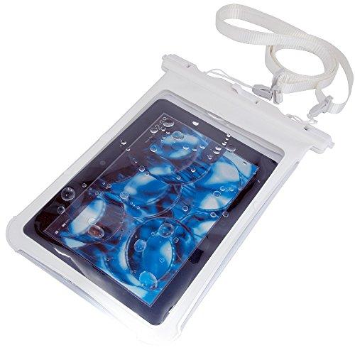 Kindle / Fire / iPad mini / Nexus 7 等対応 タブレット防水ケース (6-7インチ用) ホワイト  お風呂でも