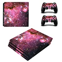 Zhhlinyuan 安定した品質 Skin Sticker Vinyl ステッカー Cover for PlayStatio PS4 Pro Console+Controllers