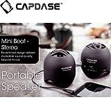 Capdase Portable Speaker Mini Beat - stereo, Black ポータブル・スピーカー ミニ・ビート ステレオ, ブラック SK00-MS01