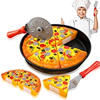 [リバティインポート]Liberty Imports Pizza Party Fast Food Cooking & Cutting Play Set Toy for kids 901 [並行輸入品]