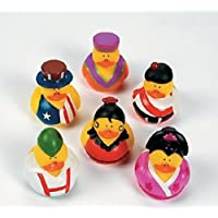 One Dozen (12) Around the World Multi-Cultural Theme Rubber Ducks [並行輸入品]