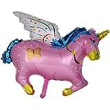 【ノーブランド品】ベビーシャワー 洗礼式用 ルミニウムフィルム製 バルーン 装飾 馬 ポニー型 カーニバル