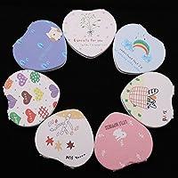 HuaQingPiJu-JP ミニハートの形状の小さなガラスミラー工芸装飾化粧品アクセサリー