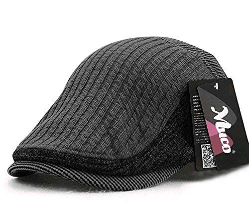 (ムコ) MUCO メンズ ニットハンチング キャスケット ハンチング帽 欧米風 紳士 オシャレ ミックス カジュアル 調節可能 アウトドア(3カラー) gray