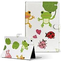 Lenovo Tab4 10 レノボ タブレット 手帳型 タブレットケース タブレットカバー カバー レザー ケース 手帳タイプ フリップ ダイアリー 二つ折り アニマル カエル 蛙 緑 グリーン 007872