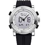 「ビンズ」BINZI スポーツ腕時計アウトドア デジタル 多機能 防水 LED クロノグラフ 日付曜日表示 BZ-9368BN ブラック メンズ