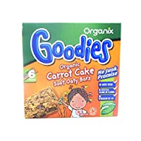 Organix Goodies - Organic Soft Oaty Bars - Carrot Cake - 6x30g (Case of 6)