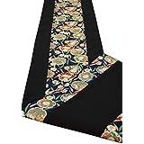 和風 着物テーブルランナー リバーシブル 金襴織 帯 箱入り包装済 150cm (葵)
