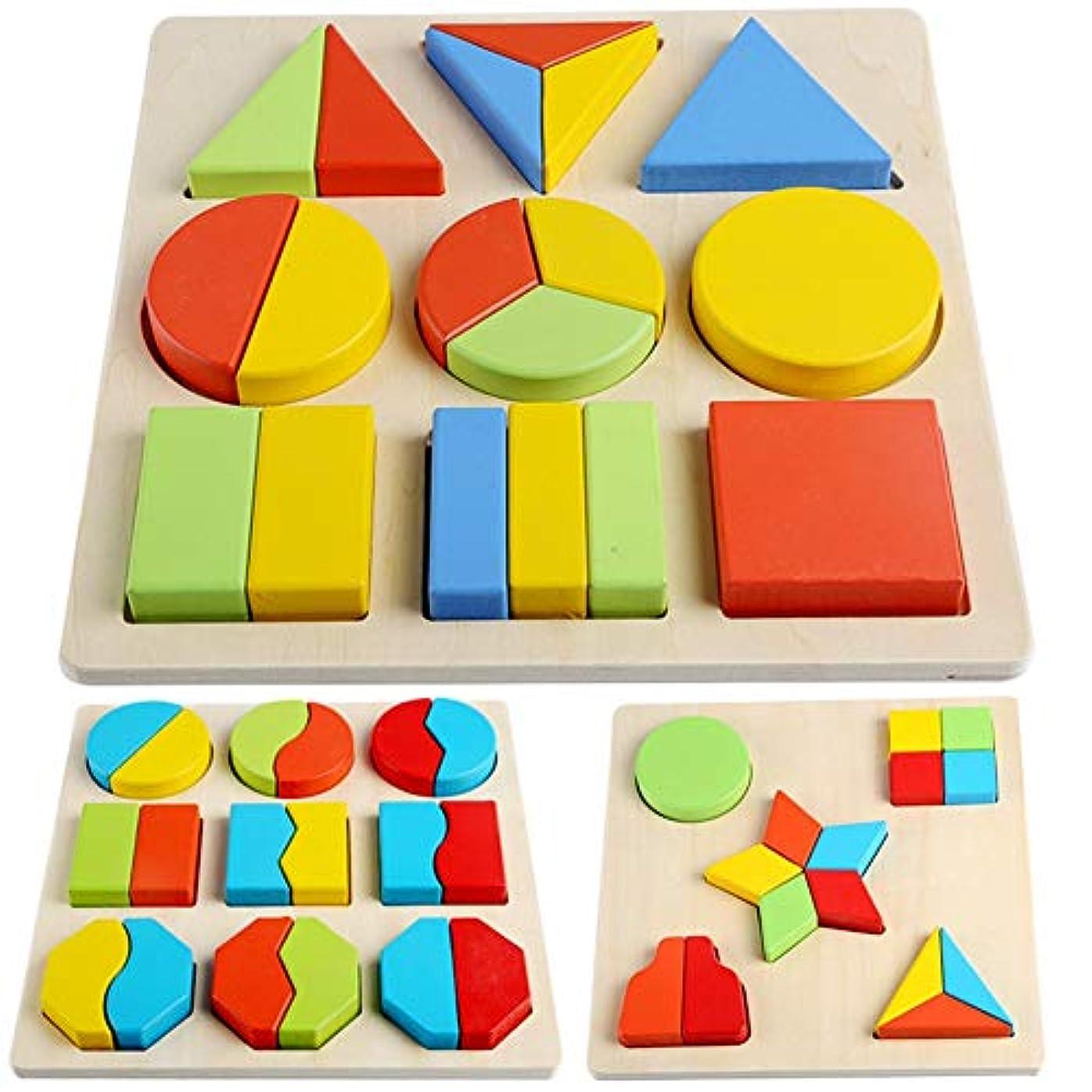 もちろんセブンプランテーション男の子と女の子の教育玩具 赤ちゃん知恵セット4セットの子供の教育用ブロックに一致する色認知玩具 クラシックなビルディングブロックのおもちゃ (色 : マルチカラー, サイズ : 2 equal-Free size)