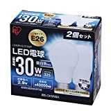 アイリスオーヤマ LED電球 E26口金 30W形相当 昼白色 下方向タイプ 2個セット 密閉形器具対応 LDA3N-G-3T22P