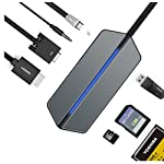 USB C ( Type C ) ハブ HUB USB 3.0 VGA Type C HUB 高速USB 3.0ポート HD1080P HDMI VGA出力ポート Type C充電ポート 3.5mmヘッドホンオーディオポート USB3.0ポート TF/CF/SDカードリーダー type c拡張 マルチポート搭載 USB - C を持ってる設備に適応です。 [並行輸入品]