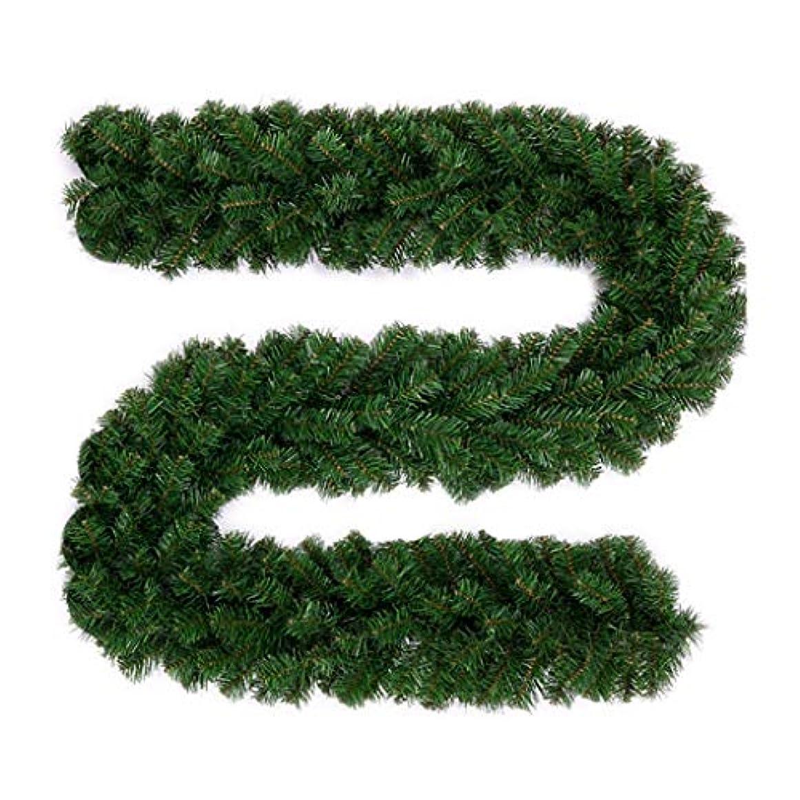 タフパーセント葉を集めるクリスマスの装飾、クリスマスの飾りラグジュアリーパッケージペンダントショッピングモールレイアウトの花輪クリスマスラタン2.7 Mの暗号化 (Color : A)