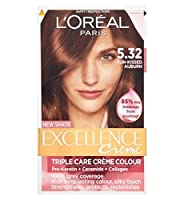 L'Oreall優秀5.32日、キス赤褐色 (L'Oreal) (x2) - L'Oreall Excellence 5.32 Sun-Kissed Auburn (Pack of 2) [並行輸入品]