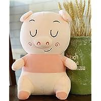HuaQingPiJu-JP 笑顔の豚25センチメートル柔らかい豚のぬいぐるみぬいぐるみ豚の人形子供ギフト(ピンク)